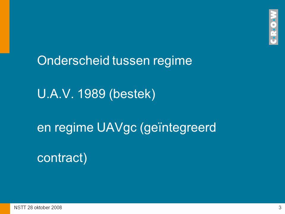 Onderscheid tussen regime U.A.V. 1989 (bestek)