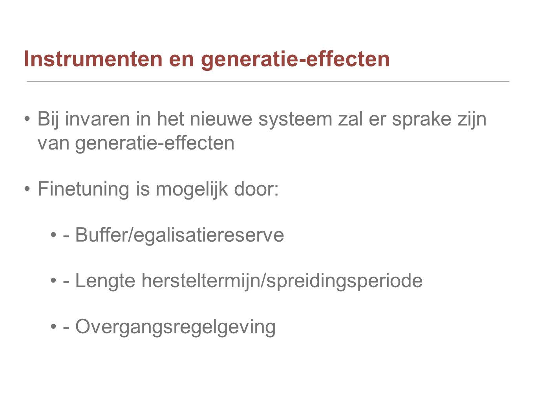 Instrumenten en generatie-effecten