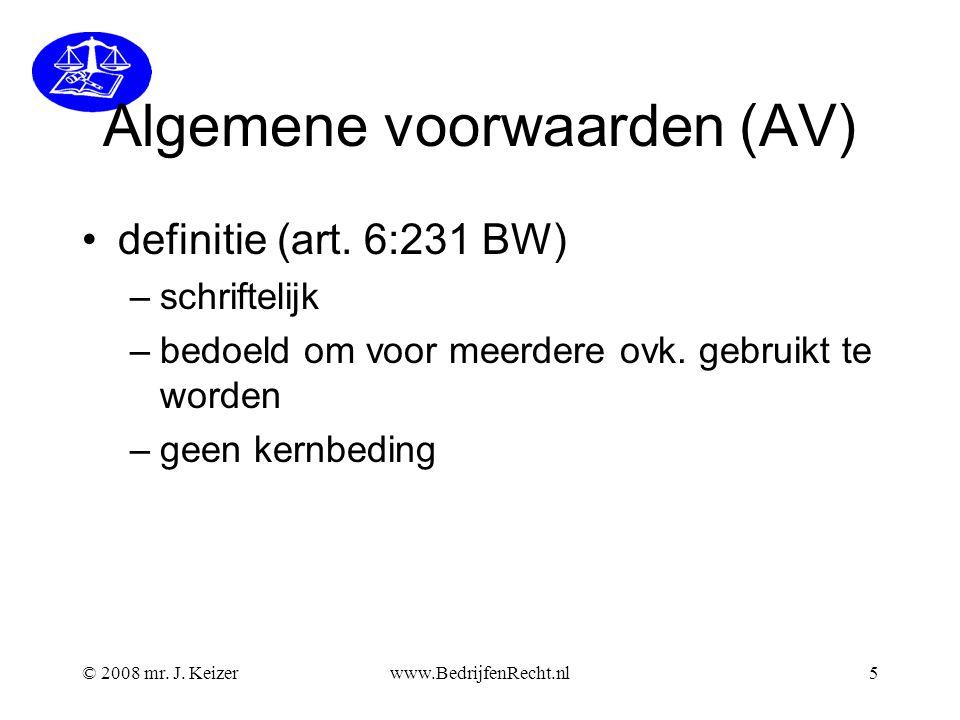 Algemene voorwaarden (AV)