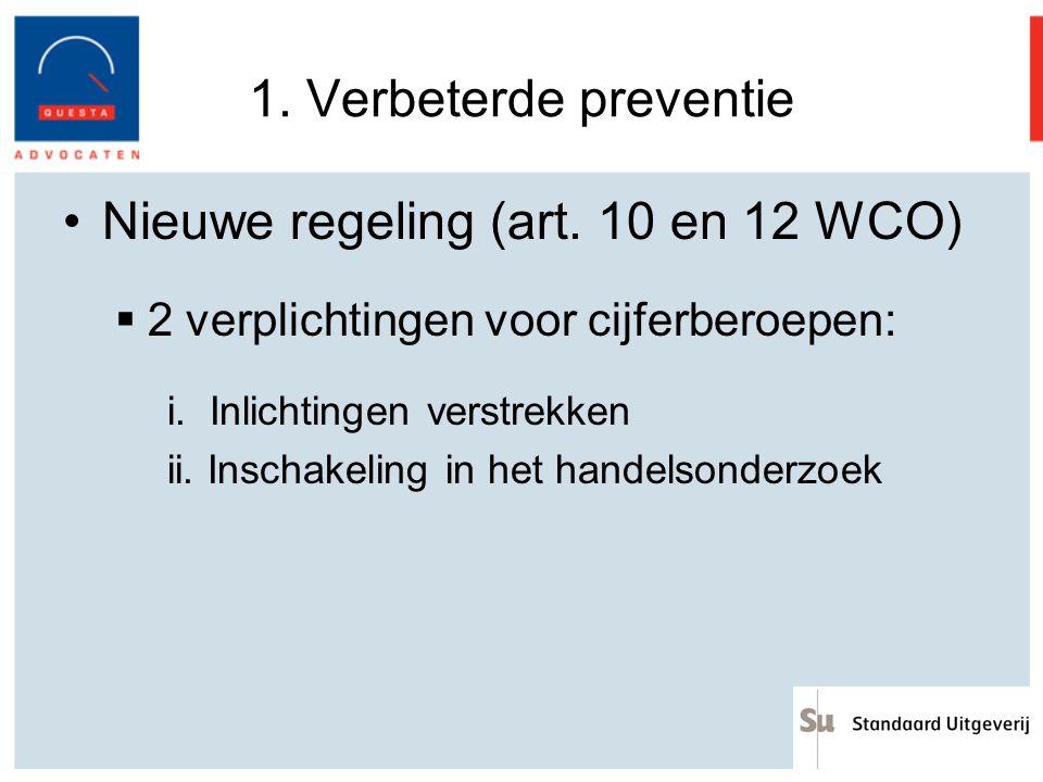 Nieuwe regeling (art. 10 en 12 WCO)