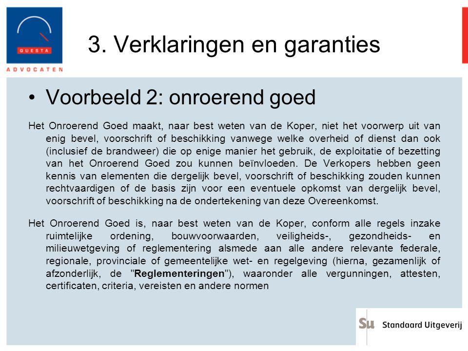 3. Verklaringen en garanties