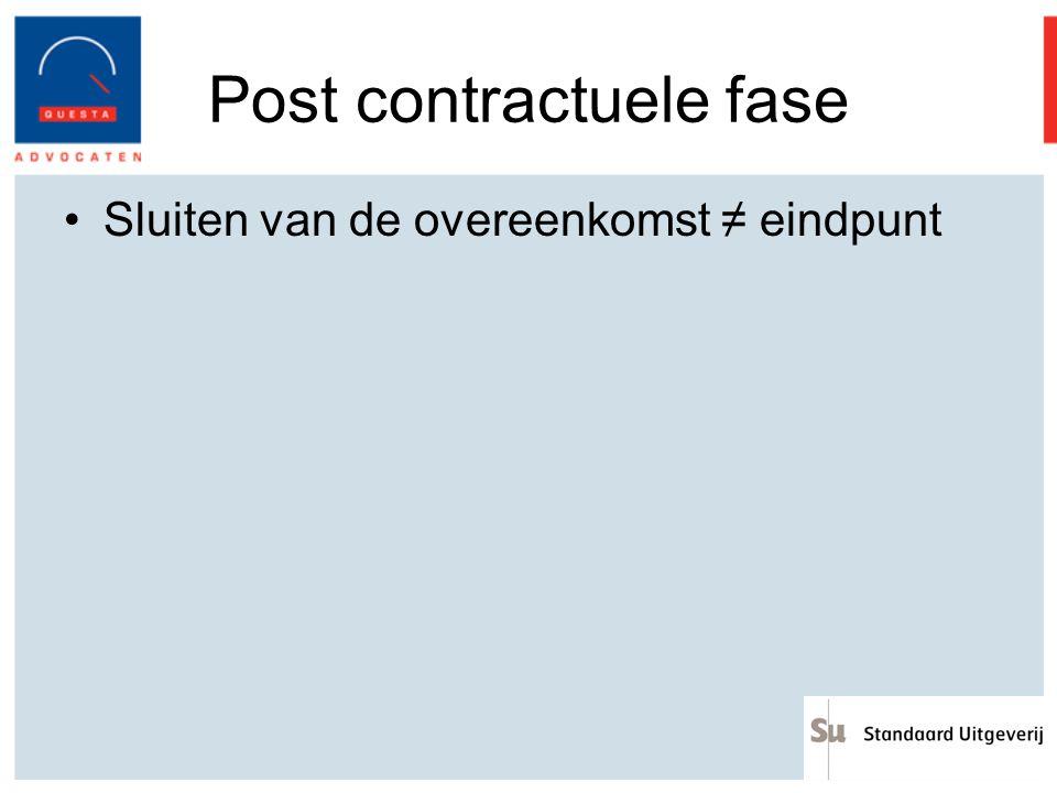 Post contractuele fase
