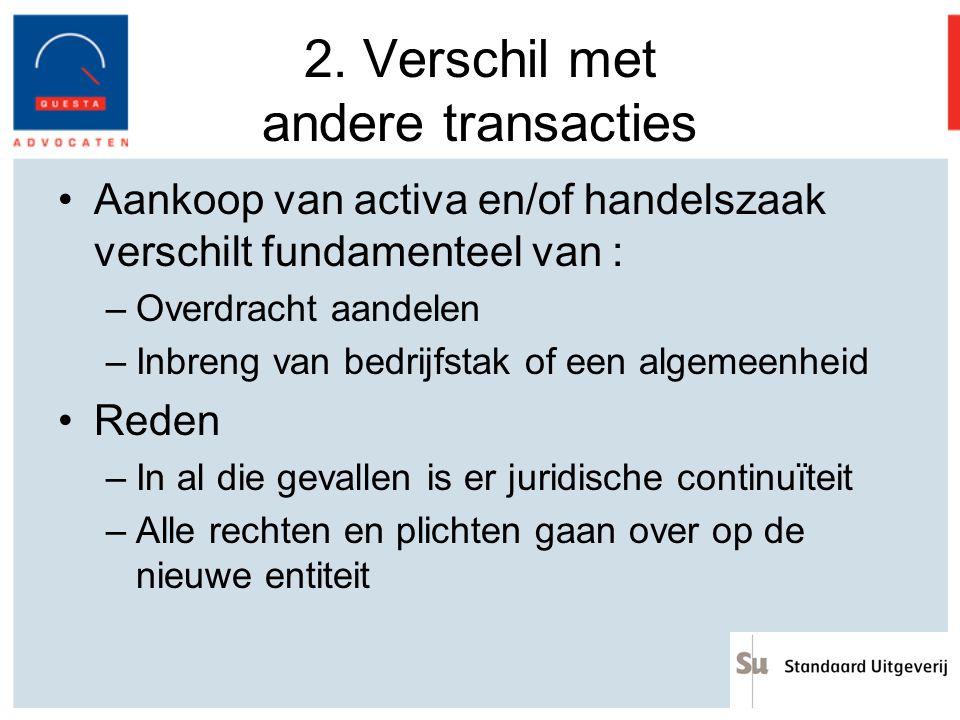 2. Verschil met andere transacties