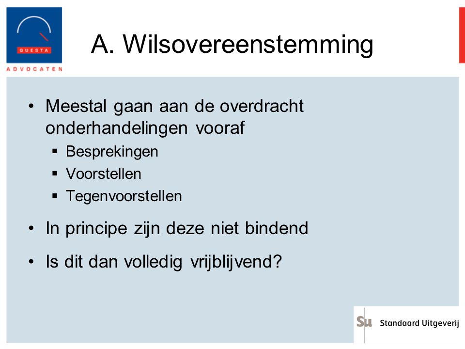 A. Wilsovereenstemming