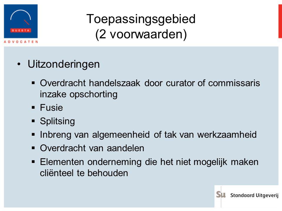 Toepassingsgebied (2 voorwaarden)