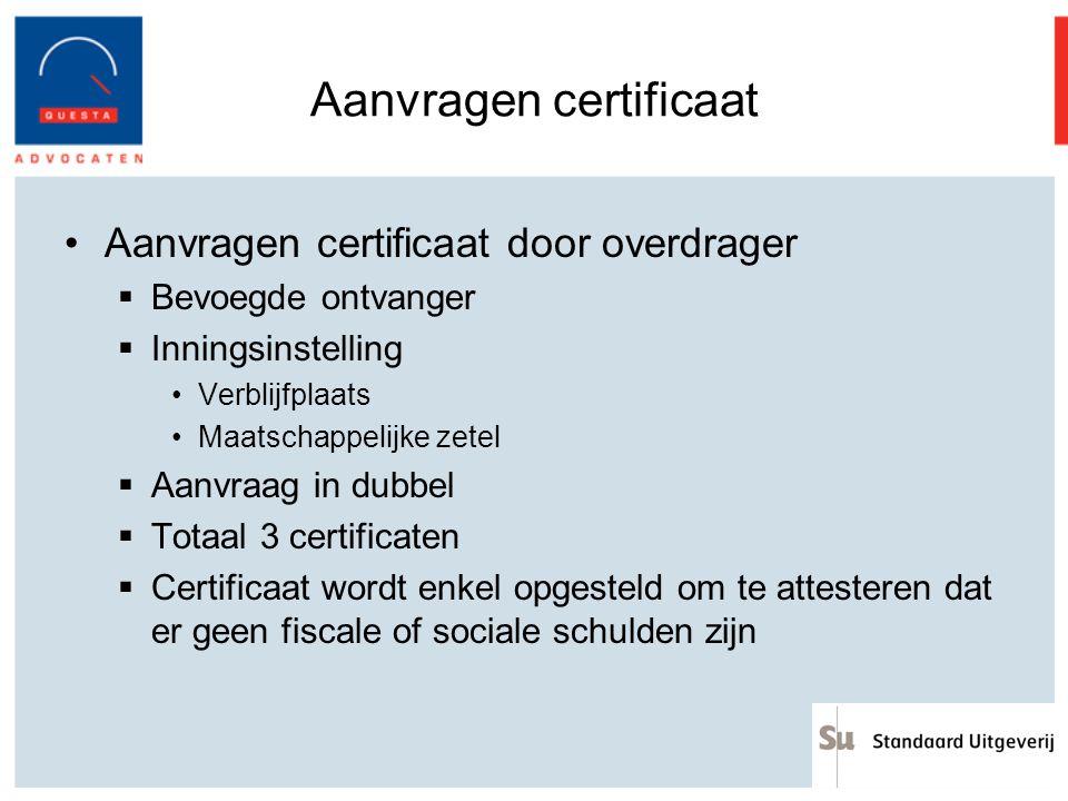 Aanvragen certificaat