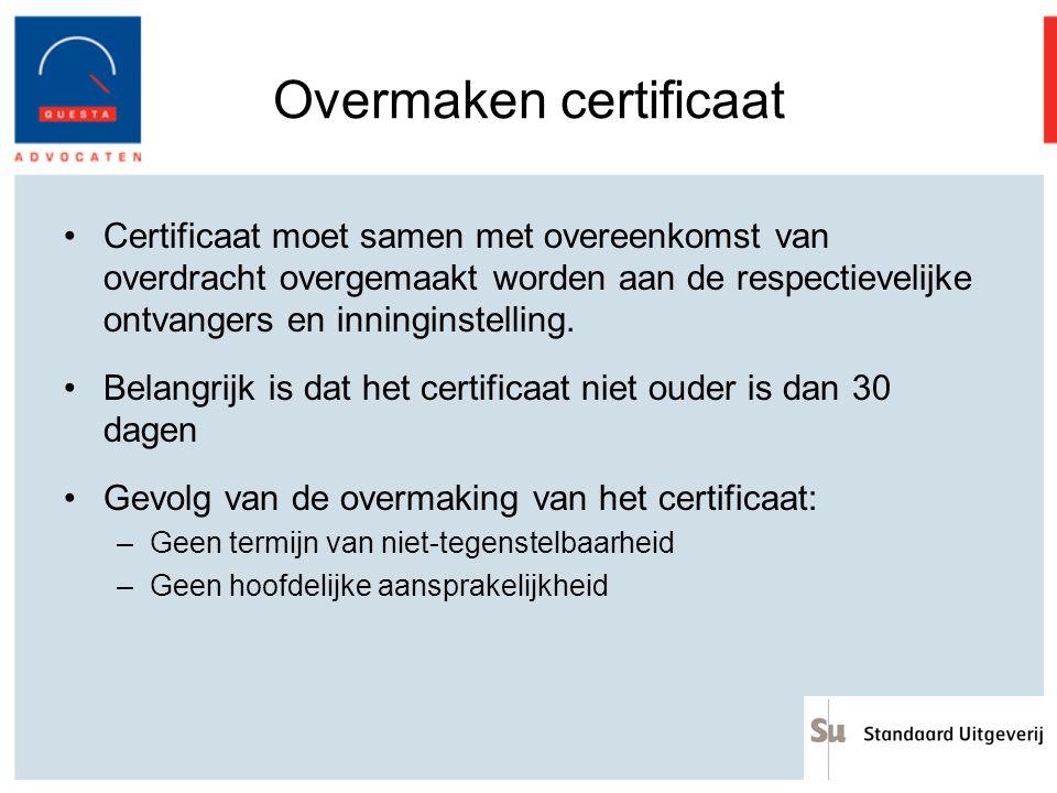 Overmaken certificaat