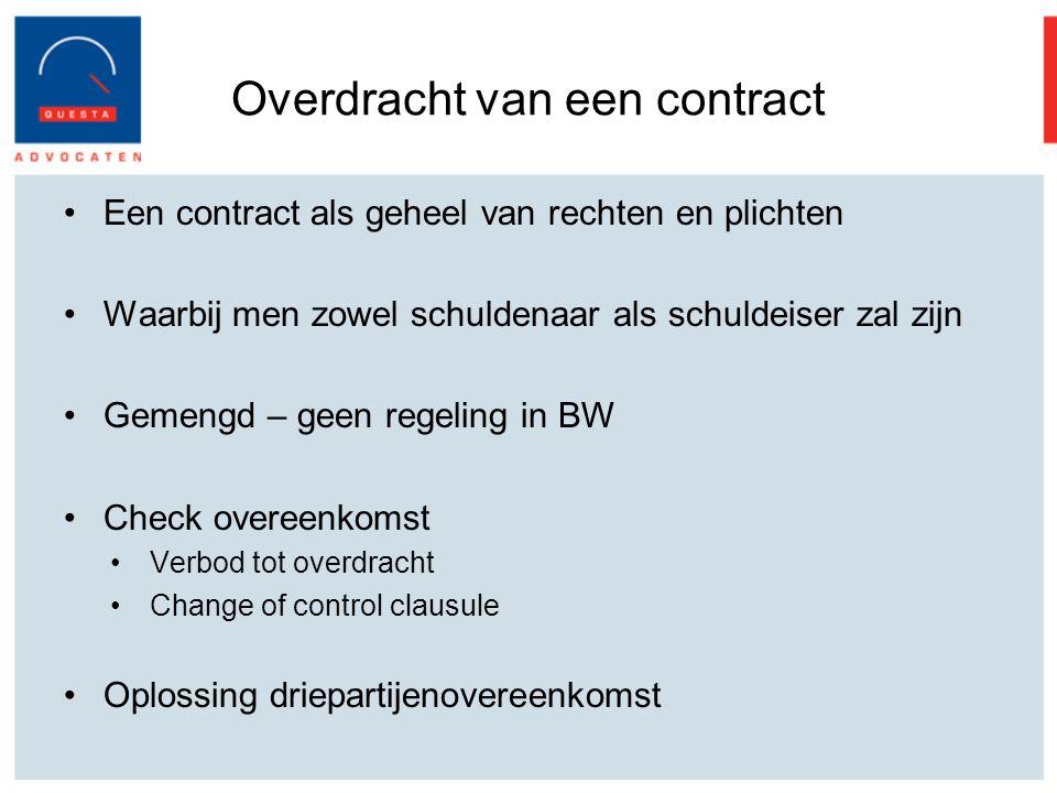 Overdracht van een contract