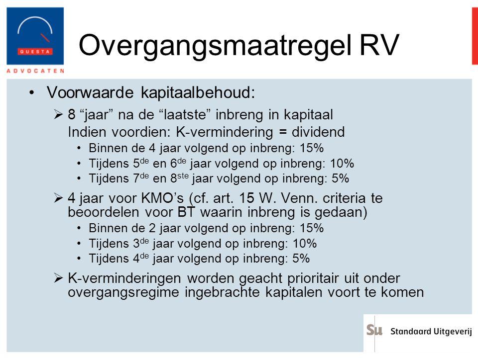 Overgangsmaatregel RV