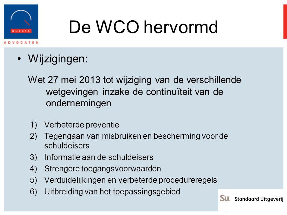 De WCO hervormd Wijzigingen: