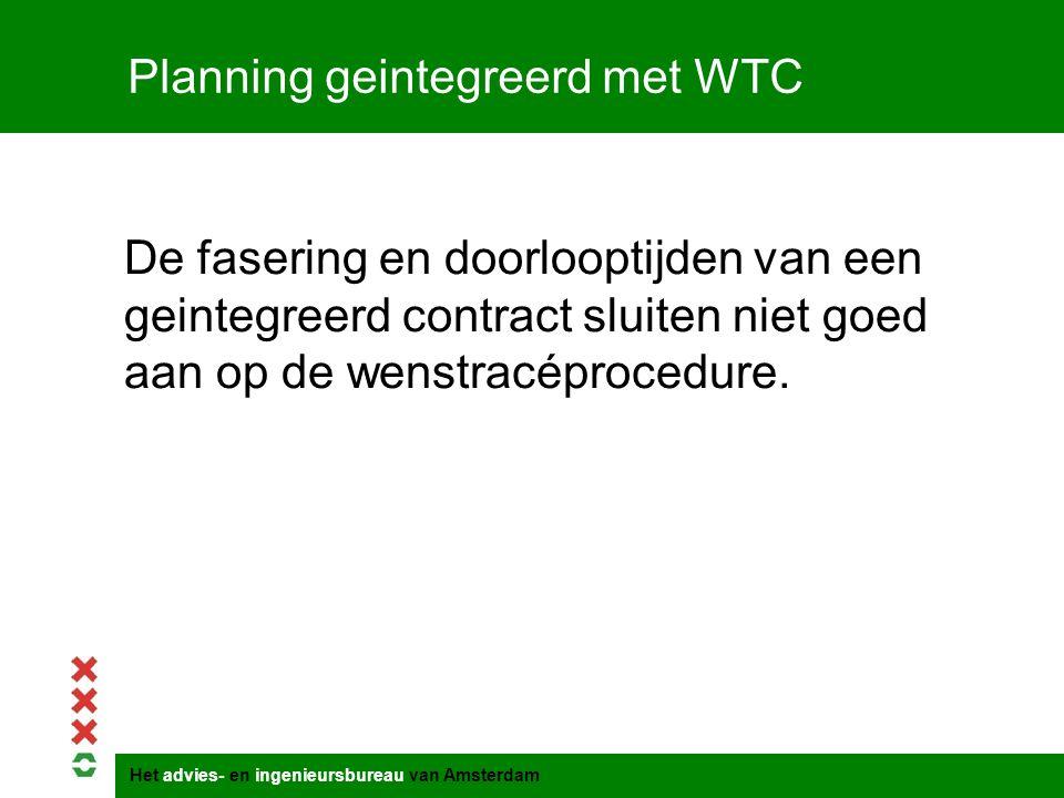 Planning geintegreerd met WTC