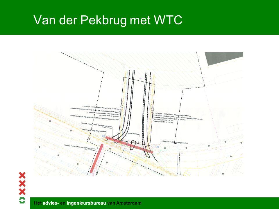 Van der Pekbrug met WTC Titel presentatie Gemeente Amsterdam