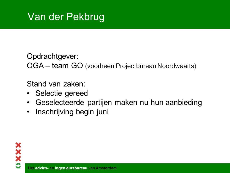 Van der Pekbrug Opdrachtgever:
