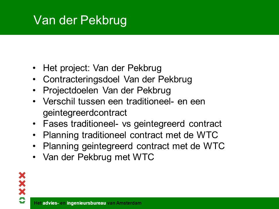 Van der Pekbrug Het project: Van der Pekbrug