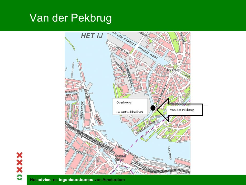Titel presentatie Van der Pekbrug Gemeente Amsterdam 1 januari 2003