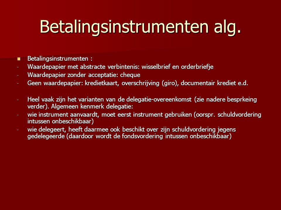Betalingsinstrumenten alg.