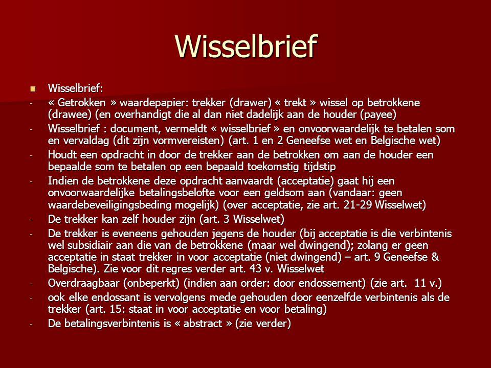 Wisselbrief Wisselbrief:
