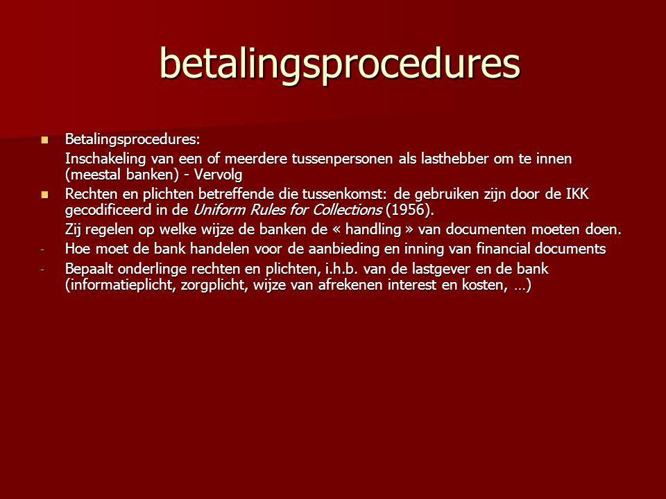 betalingsprocedures Betalingsprocedures: