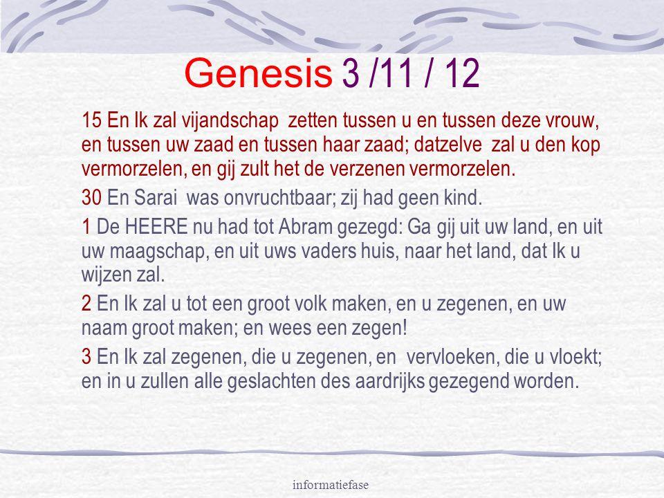 Genesis 3 /11 / 12