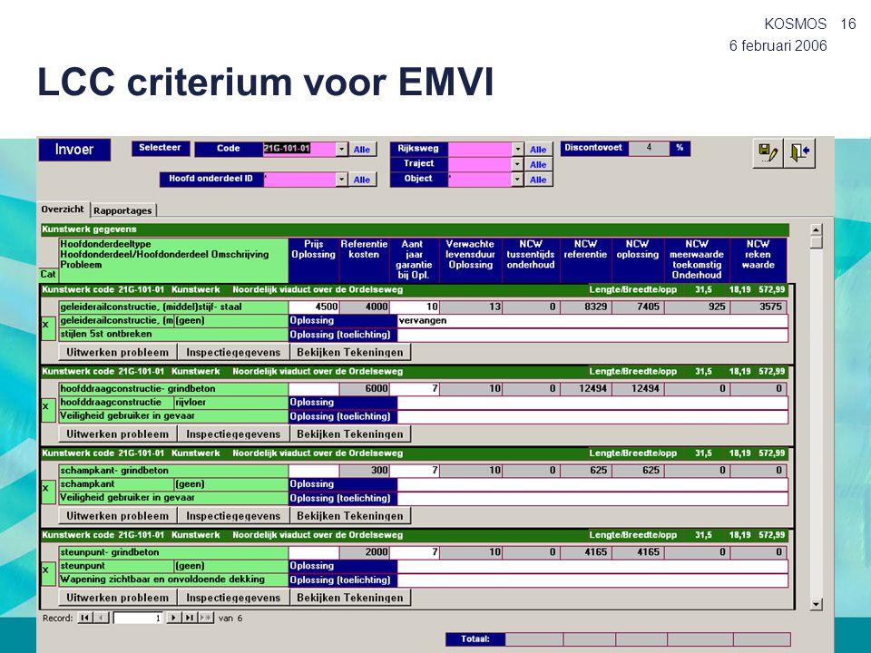 LCC criterium voor EMVI