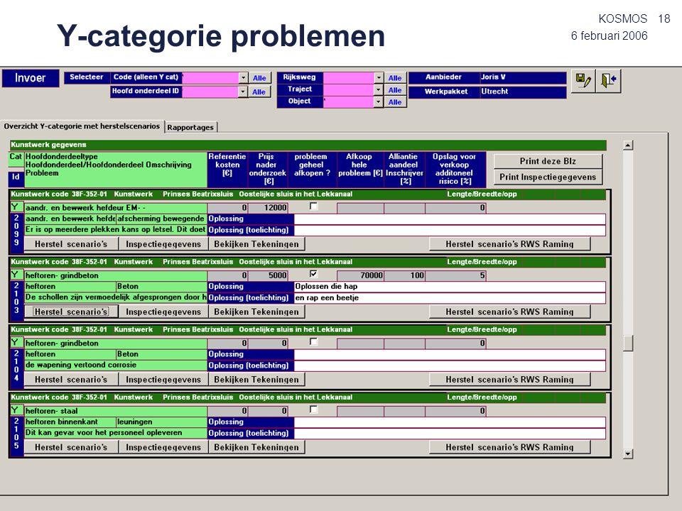 Y-categorie problemen