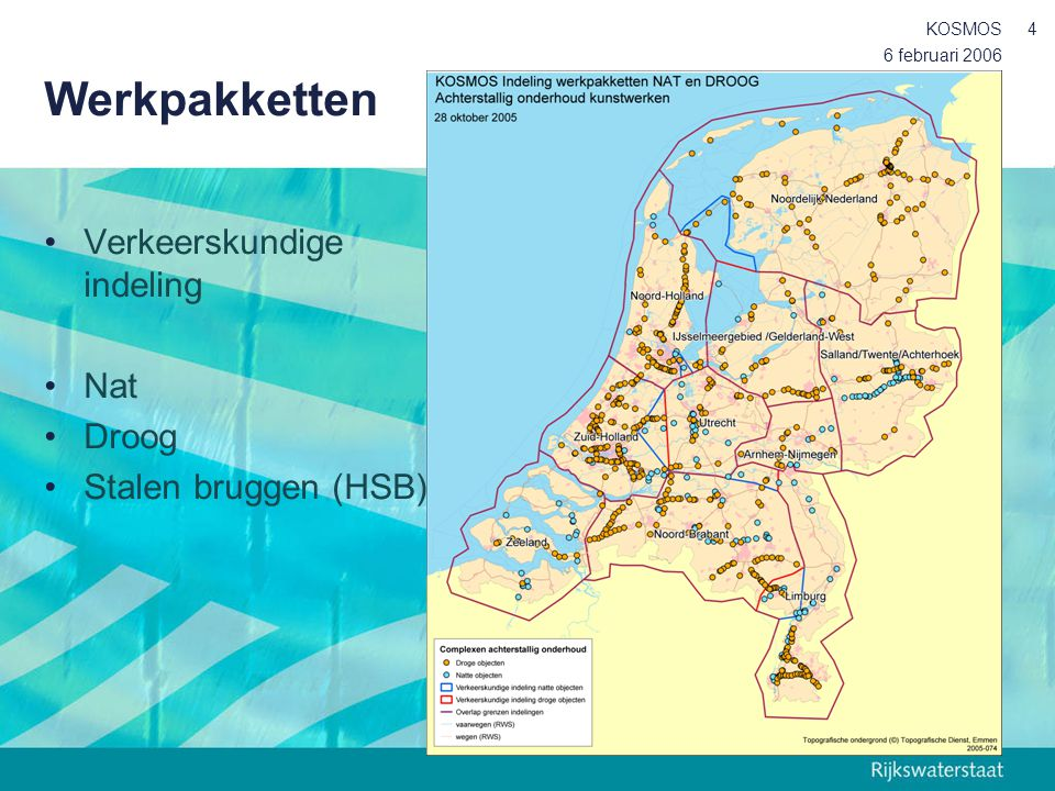 Werkpakketten Verkeerskundige indeling Nat Droog Stalen bruggen (HSB)
