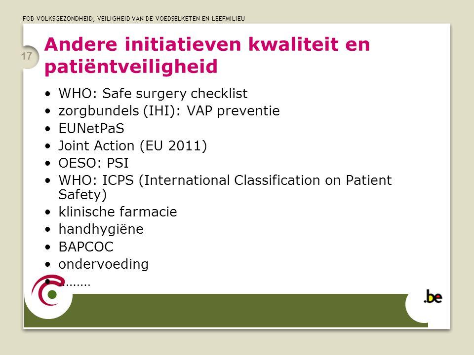 Andere initiatieven kwaliteit en patiëntveiligheid