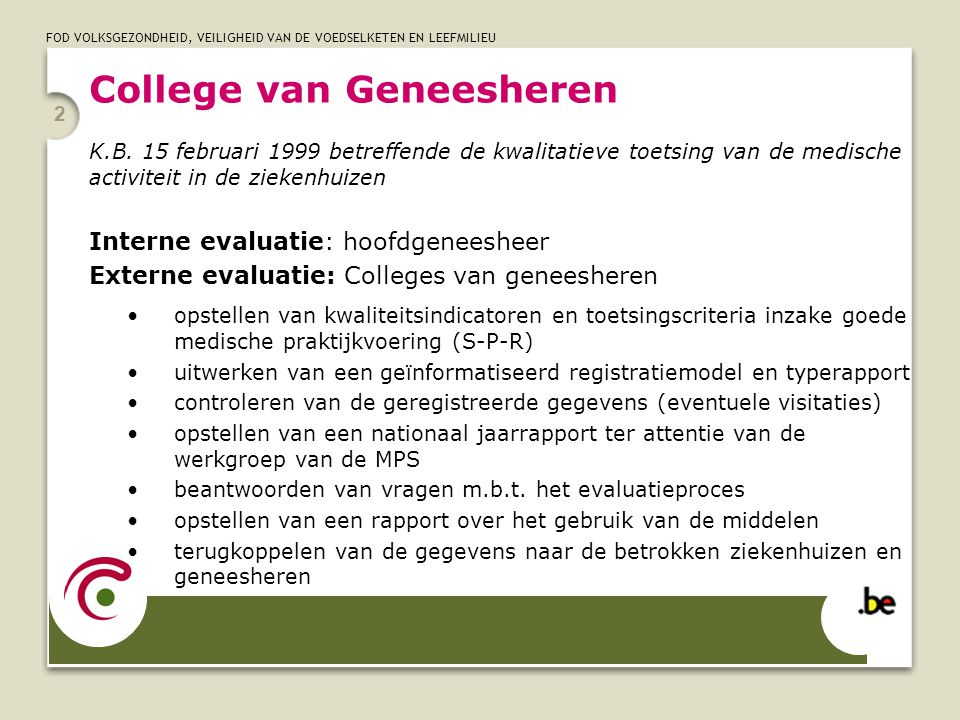 College van Geneesheren