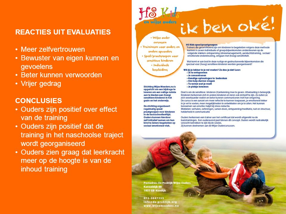 REACTIES UIT EVALUATIES