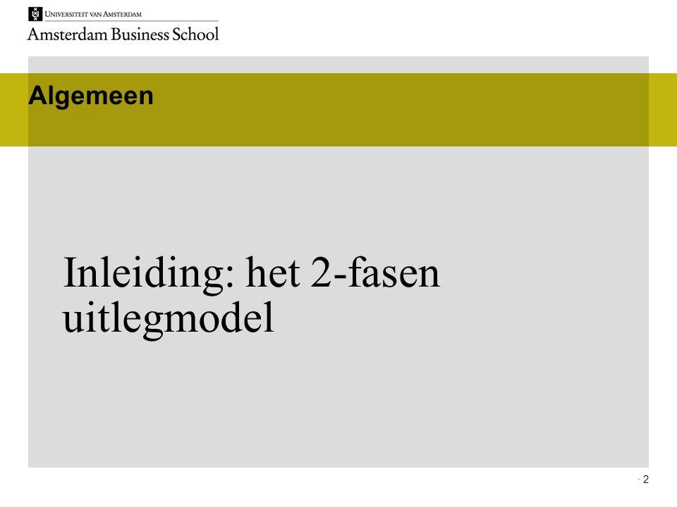 Inleiding: het 2-fasen uitlegmodel