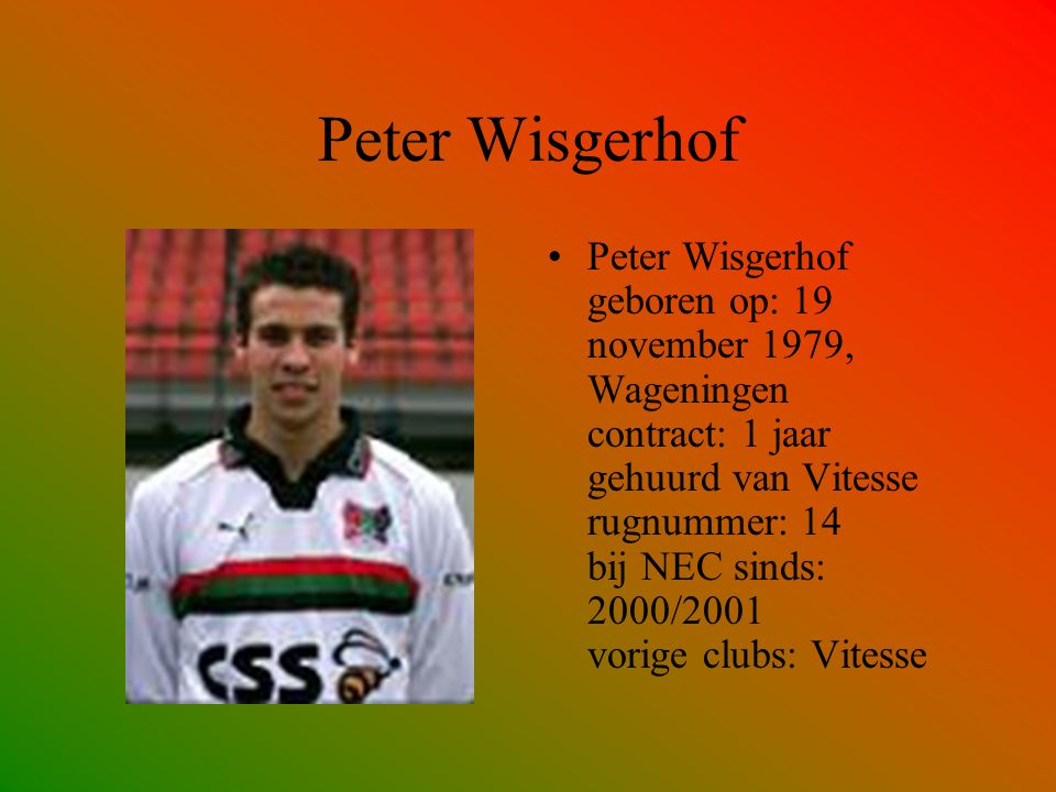 Peter Wisgerhof