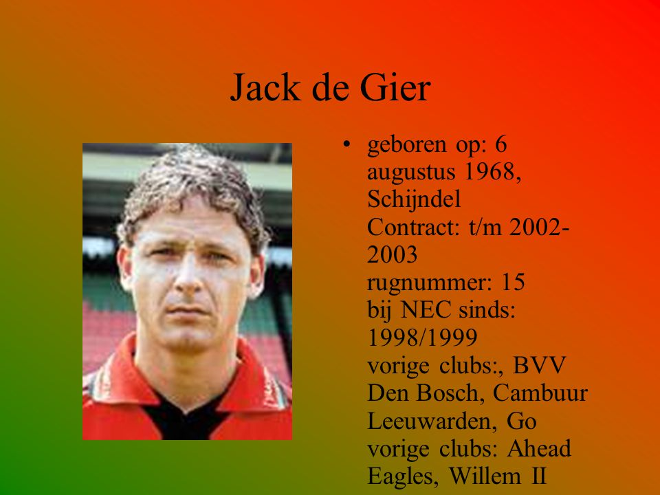 Jack de Gier