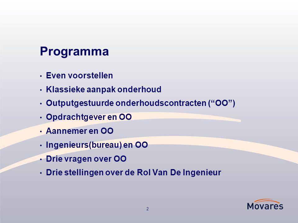 Programma Even voorstellen Klassieke aanpak onderhoud