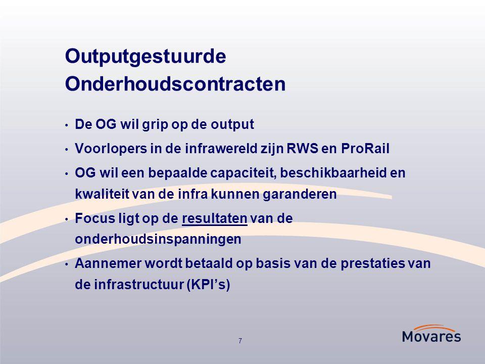 Outputgestuurde Onderhoudscontracten