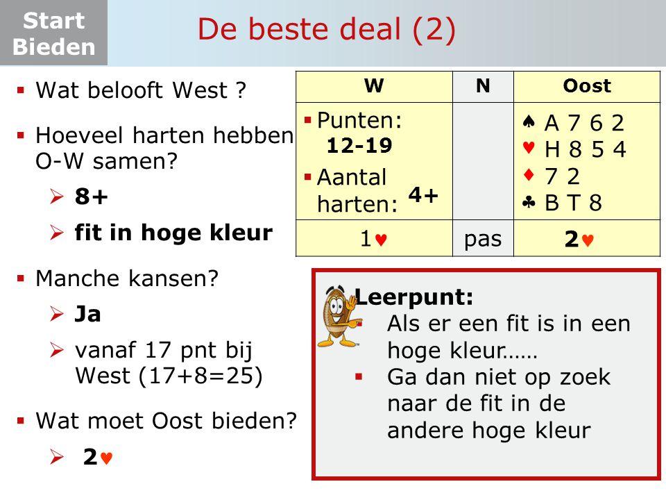De beste deal (2) Wat belooft West Hoeveel harten hebben O-W samen