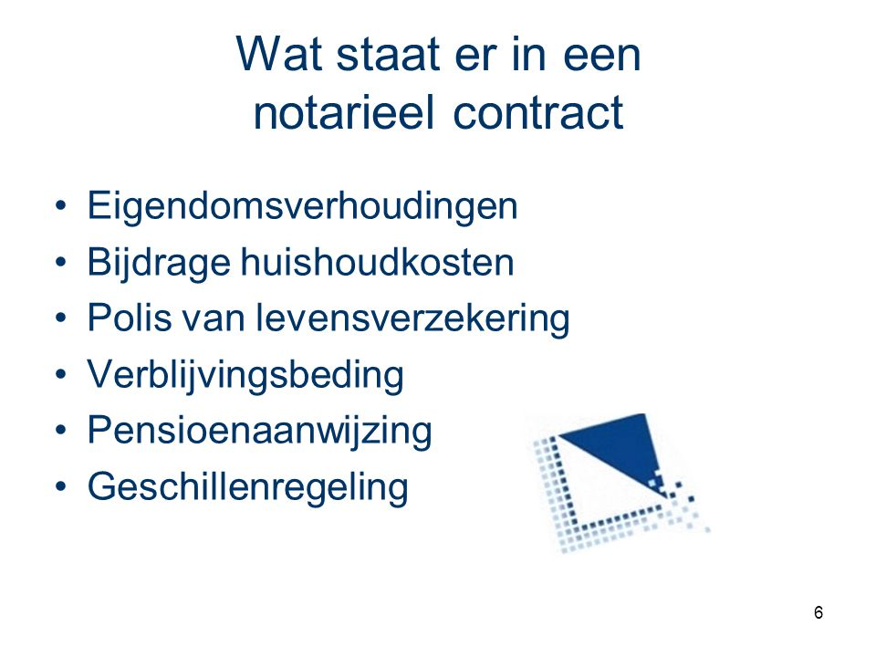 Wat staat er in een notarieel contract