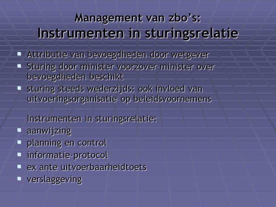 Management van zbo's: Instrumenten in sturingsrelatie