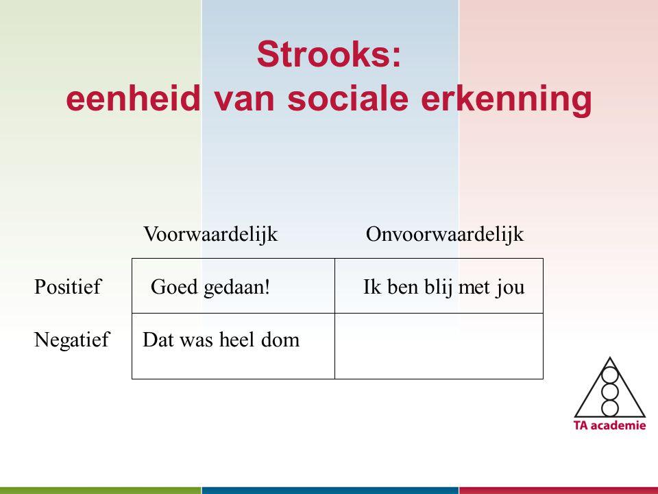 Strooks: eenheid van sociale erkenning