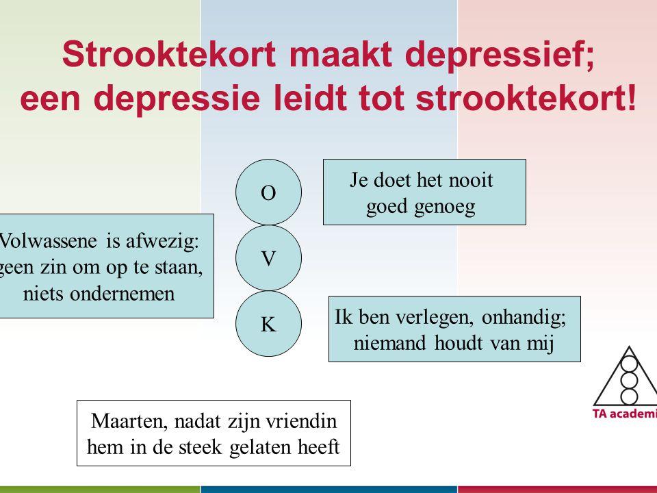 Strooktekort maakt depressief; een depressie leidt tot strooktekort!