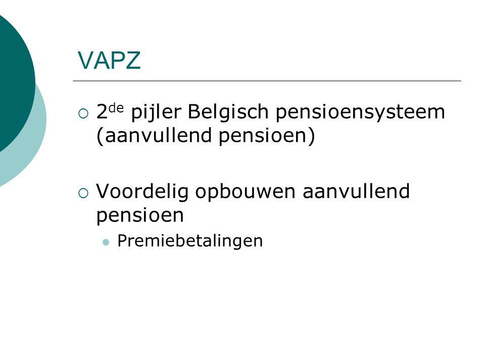 VAPZ 2de pijler Belgisch pensioensysteem (aanvullend pensioen)