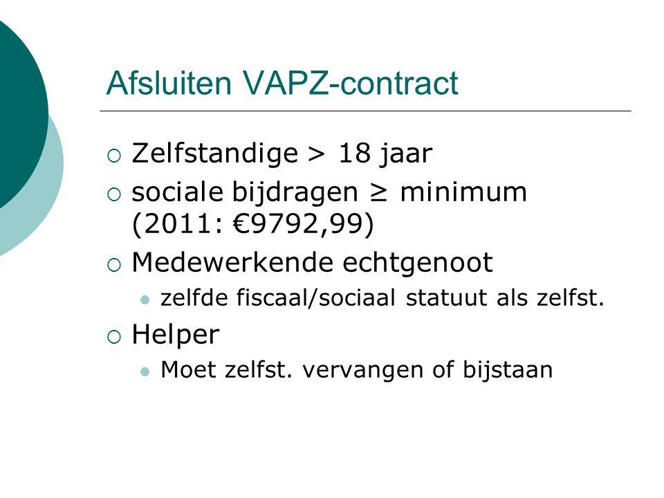 Afsluiten VAPZ-contract