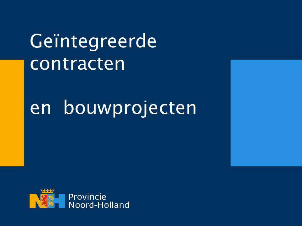 Geïntegreerde contracten en bouwprojecten