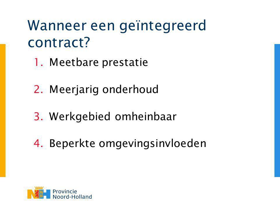 Wanneer een geïntegreerd contract