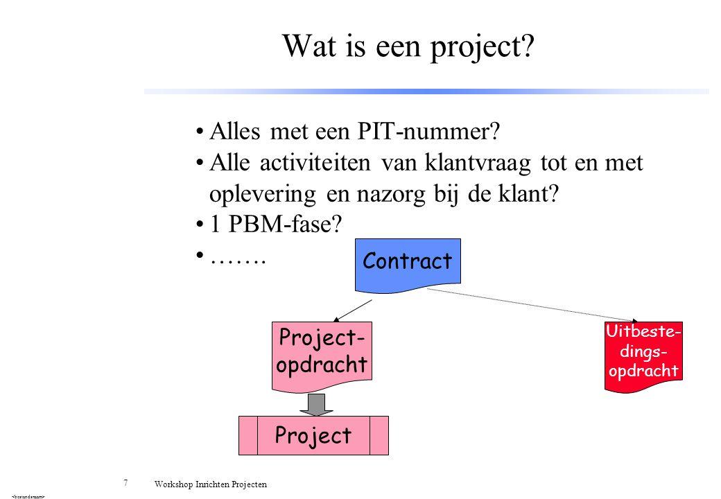 Wat is een project Alles met een PIT-nummer