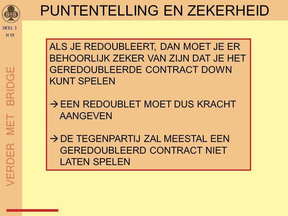 PUNTENTELLING EN ZEKERHEID