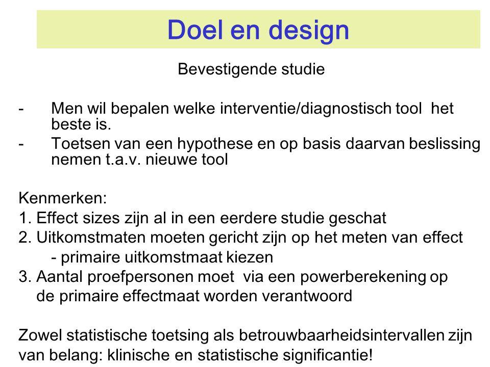 Doel en design Bevestigende studie