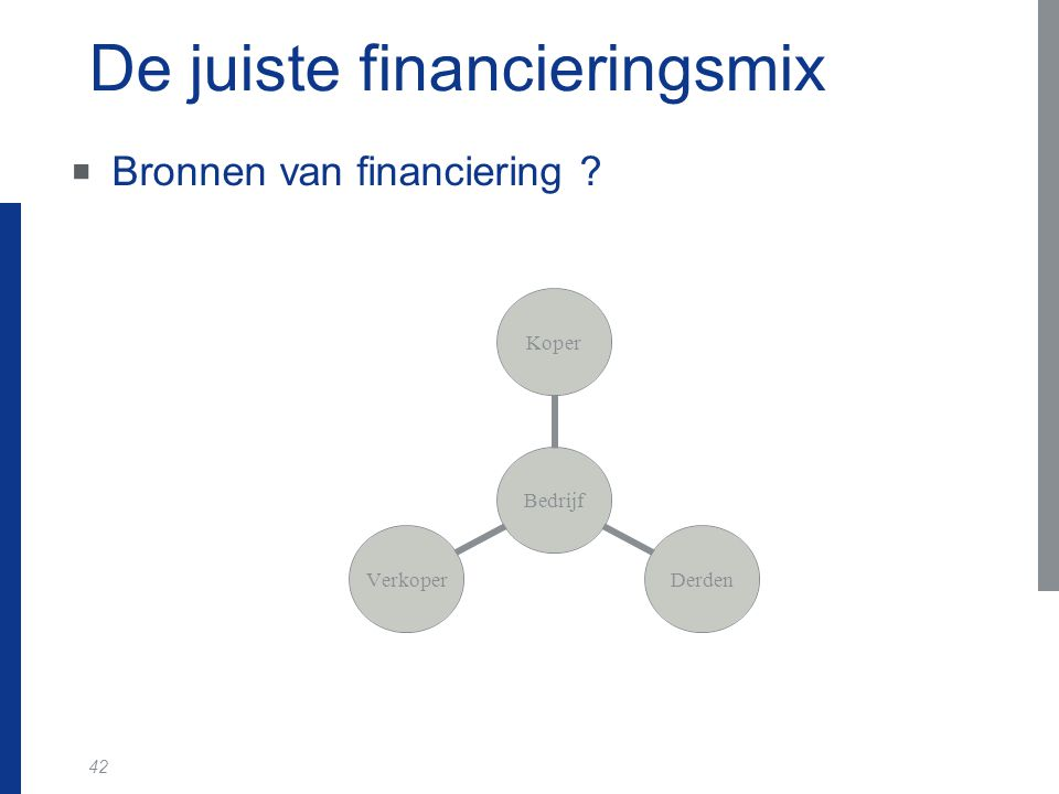 De juiste financieringsmix