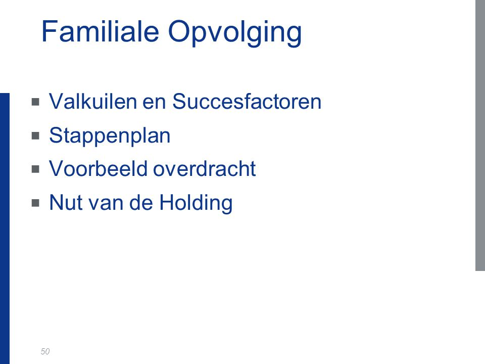 Familiale Opvolging Valkuilen en Succesfactoren Stappenplan