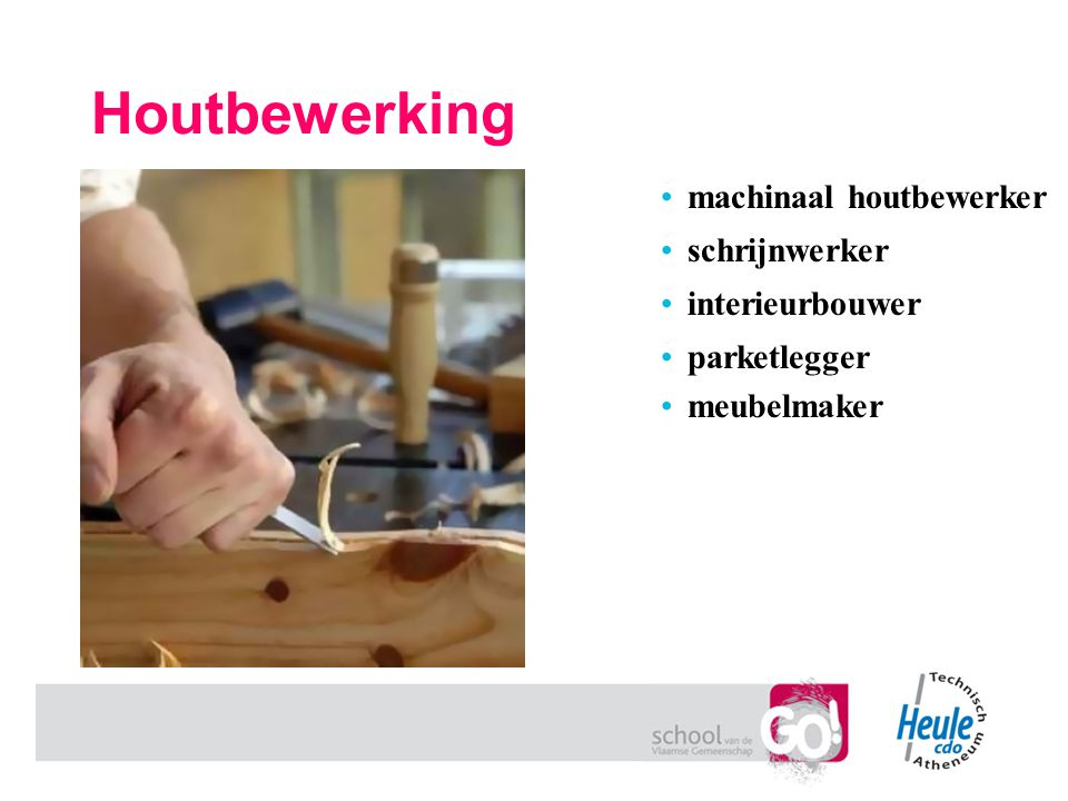 Houtbewerking machinaal houtbewerker schrijnwerker interieurbouwer
