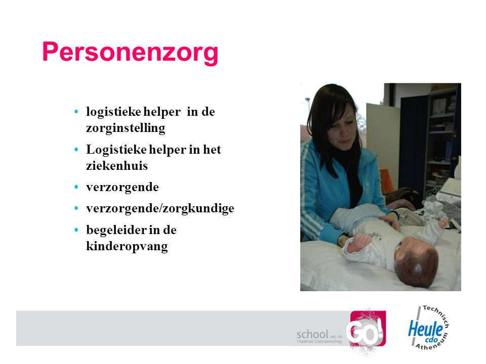 Personenzorg logistieke helper in de zorginstelling